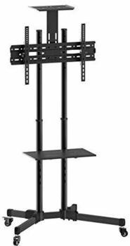 TECHLY B-Tech Flachbildschirm-Bodenhalter 177,8 cm (70 Zoll) Tragbarer Flachbildschirm-Bodenständer Schwarz