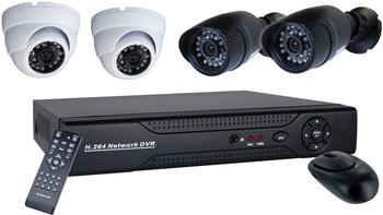 smartwares 4-Kanal D1 Video-Überwachungssystem, inkl. 4 Kameras und 500Gb Festplatte