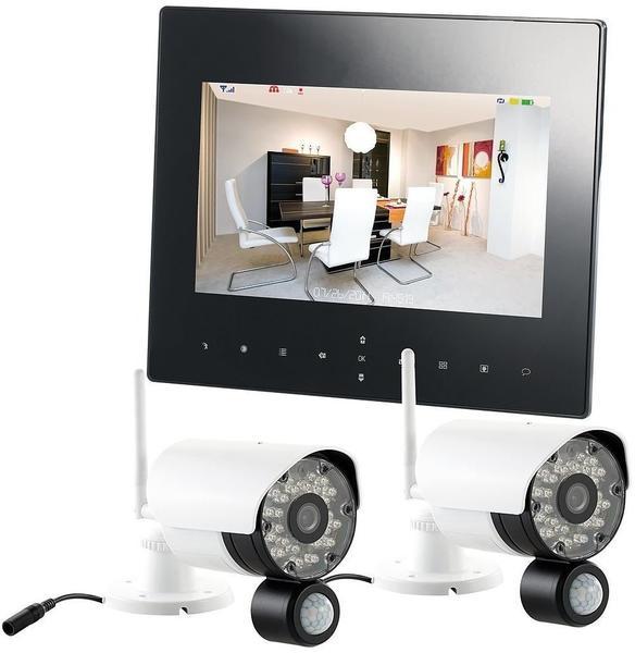 VisorTech Digitales Überwachungssystem DSC-720.mc mit 2 HD-Kameras, IP-Funktion
