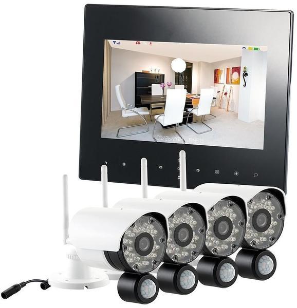 VisorTech Digitales Überwachungssystem DSC-720.mc mit 4 HD-Kameras, IP