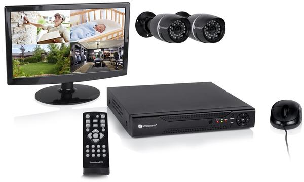 smartwares DVR528S Digitalrekorder inkl. Festplatte, Kameras, Monitor,