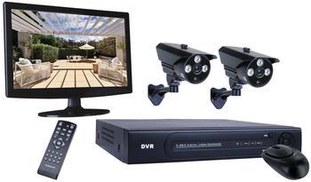 Smartwares 4-Kanal Überwachungssystem, 2 Kameras, Monitor, Appsteuerung