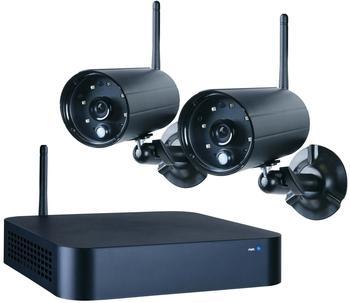 smartwares Schnurloses Sicherheits-System mit 2 Outdoor-Kameras, APP für IOS/Android