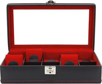 Friedrich 23 Carbon 10 Uhrenkasten schwarz rot
