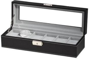 Rothenschild Uhrenbox für 6 Uhren schwarz