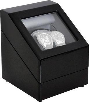 Klarstein Schaukasten Vitrine 2 Uhren Watch Winder black (10000163)