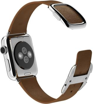 Apple Watch 38 mm Modernes Lederarmband Small braun (MJ542ZM/A)