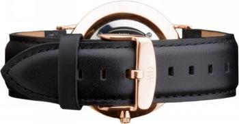 Daniel Wellington Classic Cardiff Leder Armband 18mm schwarz gold (W0708DW)