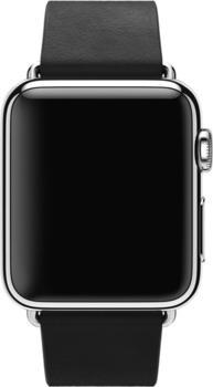 Apple Watch 38 mm Modernes Lederarmband Large schwarz (MJY92ZM/A)