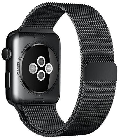 Apple 42mm Milanaise Loop Uhrarmband space schwarz