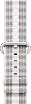 Apple Gewebtes Nylonarmband für Apple Watch 38mm weiß gestreift