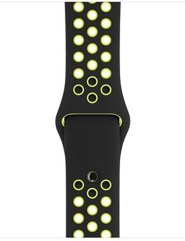 Apple Nike Sportarmband für Apple Watch 38mm black/volt