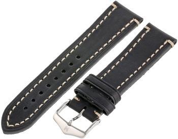 Hirsch Uhrenarmband Liberty L schwarz 22mm