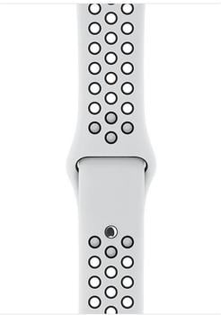 Apple Nike Sportarmband für Apple Watch 38mm pure platinum/schwarz