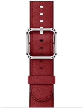 Apple Watch 38 mm klassisches Lederarmband ruby