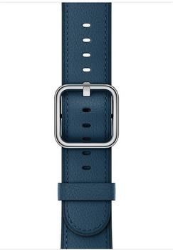 Apple 42mm klassisches Lederarmband cosmos blue