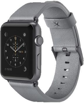 Belkin klassisches Lederarmband für Apple Watch 38 mm grau