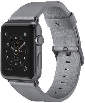 Belkin klassisches Lederarmband für Apple Watch 42 mm grau
