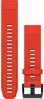 Garmin QuickFit 22 Watch Strap Silicone fite red