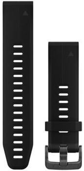 Garmin QuickFit 20 Silikonarmband schwarz (010-12739-00)