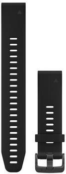 Garmin QuickFit 20 Silikonarmband schwarz large (010-12739-07)