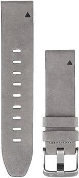 Garmin QuickFit 20 Veloursleder-Armband grau (010-12491-16)