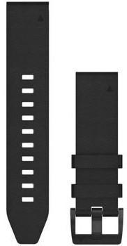 Garmin QuickFit 22 Lederarmband schwarz (010-12740-01)