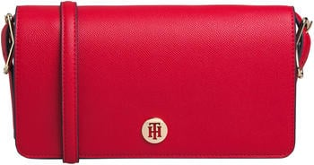 Tommy Hilfiger Monogram Plaque Flap Crossover (AW0AW07943) barbados cherry