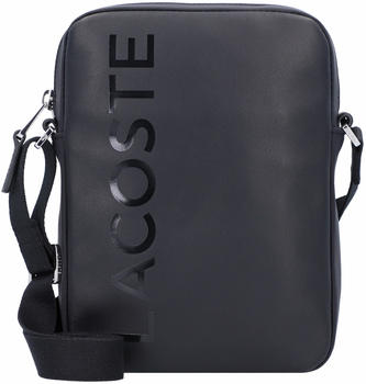 Lacoste Men's L.12.12 Signature Leather Cross Body Bag (NH2933IA) black