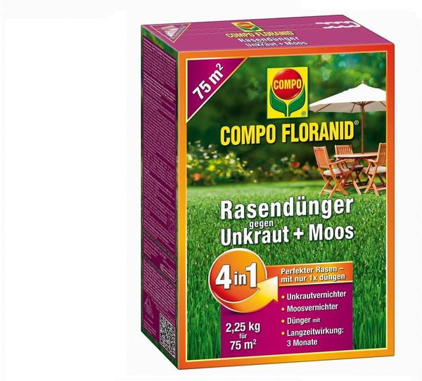 Compo Floranid gegen Unkraut+Moos 4in1 2,25 kg