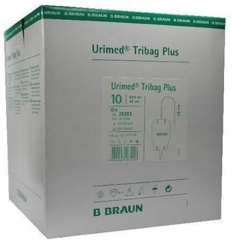 B. Braun Urimed Tribag Plus Urin Beinbtl.800 ml 20 cm Ster. (10 Stk.)