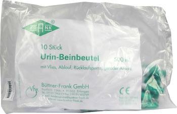 Büttner-Frank Urin Beinbteutel Rücklaufsperre m. Ablauf Gerade 500 ml (10 Stk.)