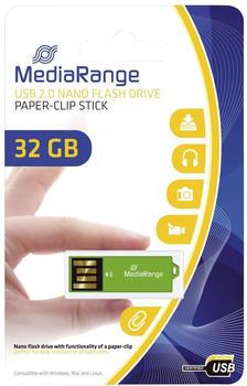 mediarange-mediar-usb-nanostick-flash-32gb-clip-mr977-gruen-mit-bueroklammer-funktion-mr977
