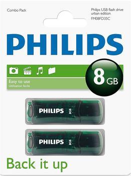 Philips Urban Edition 8GB grün 2er Pack