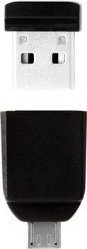 Verbatim NANO USB Drive USB-Flash-Laufwerk 64 GB 2.0 mit Micro Adapter (49329)