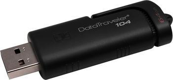 Kingston DataTraveler 104 64GB USB 2.0 64 GB, (DT104/64GB)