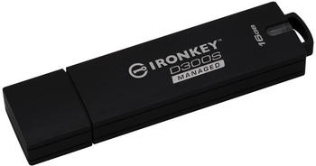Kingston 16GB D300SM AES 256 XTS Encrypted USB Drive USB-Stick 16 GB (IKD300SM/16GB)