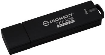 Kingston 8GB D300SM AES 256 XTS Encrypted USB Drive USB-Stick 8 GB 8 (IKD300SM/8GB)