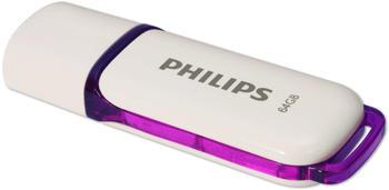 Philips FM64FD75B Snow edition 3.0 USB-Flash-Laufwerk - 64GB Purple, Farbe:Purple