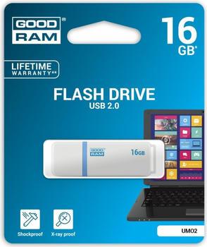 GoodRam *UMO2 16GB USB 2.0 Bialy (UMO2-0160W0R11)