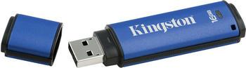 Kingston DataTraveler Vault Privacy Anti-Virus 16GB blau USB 3.0