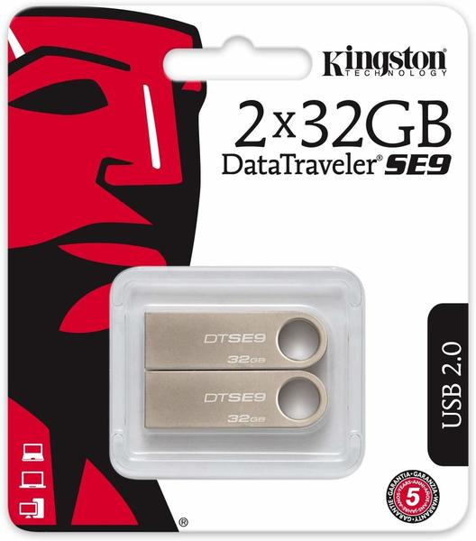 Kingston DataTraveler SE9 32GB 2-Pack