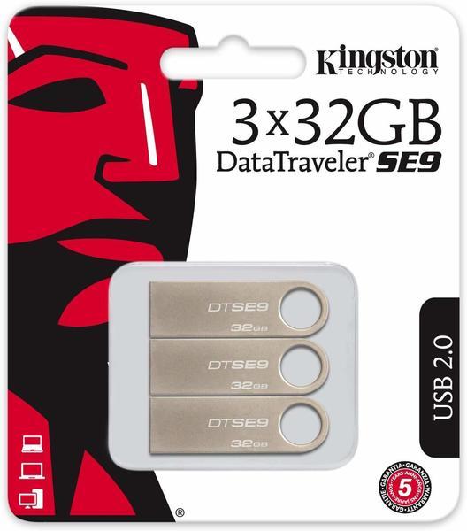 Kingston DataTraveler SE9 32GB 3-Pack