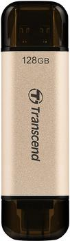Transcend JetFlash 930C 128 GB USB-Stick, gold/schwarz, USB-A 3.2 Gen 1, USB-C