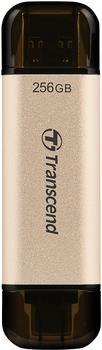 Transcend JetFlash 930C 256 GB USB-Stick gold/schwarz, USB-A 3.2 Gen 1, USB-C