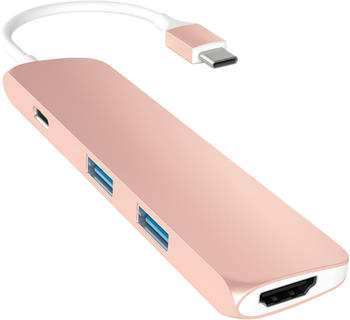 Satechi 4 Port 3.1-C USB HDMI Hub - Rose Gold
