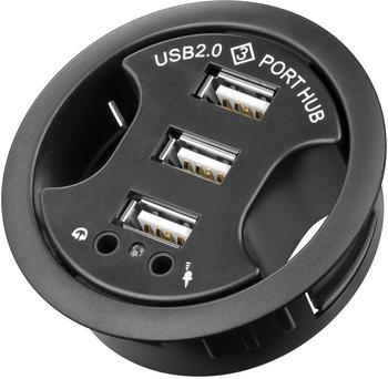 TecLine 3 Port USB 2.0 Desktop Hub (17000333)