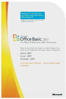 Microsoft Office 2007 Basic V2 (DE) (Win) (MLK) (OEM)