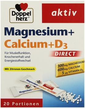 Doppelherz Magnesium + Calcium + D3 Direct Pellets 20 St.