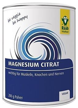 Raab Vitalfood Magnesiumcitrat Pulver 200 g